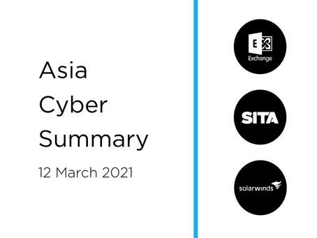 March 12th 2020 | Asia Cyber Summary