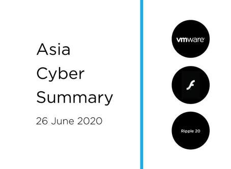 26 June 2020 | Asia Cyber Summary