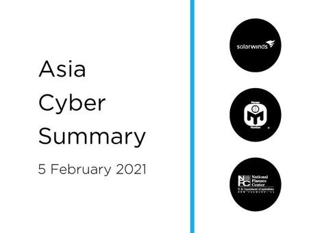 5 February 2020 | Asia Cyber Summary