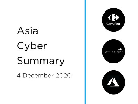 4 December 2020 | Asia Cyber Summary