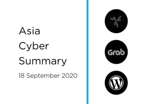 18 Sept 2020 | Asia Cyber Summary