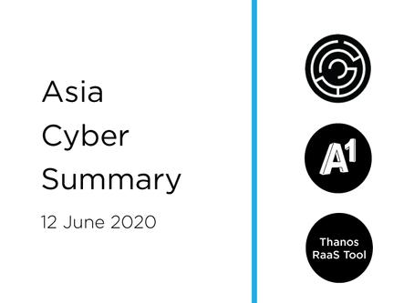12 June 2020 | Asia Cyber Summary
