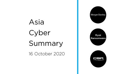 16 Oct 2020 | Asia Cyber Summary