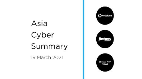 March 19th 2020 | Asia Cyber Summary