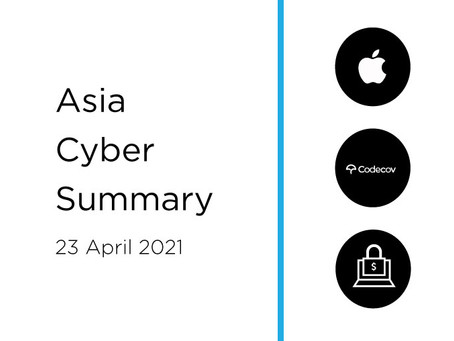 23rd April 2020 | Asia Cyber Summary