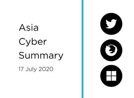 17 July 2020 | Asia Cyber Summary