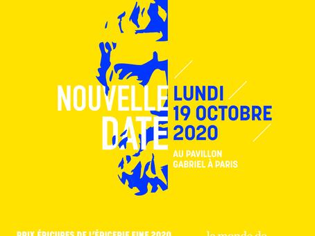 Retrouvez les Épicures 2020 le lundi 19 octobre