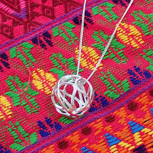 Swirl Ball Pendant with chain