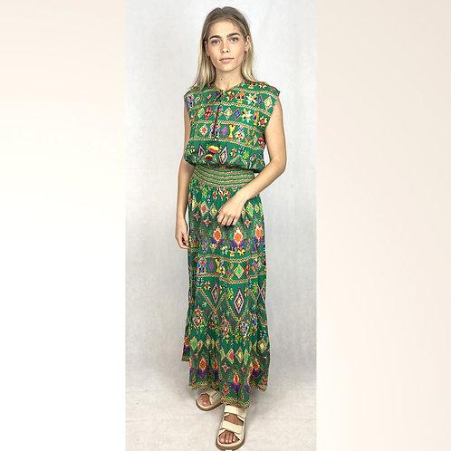 """""""Leigh"""" Shirred Maxi Dress"""
