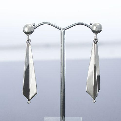 3D Drop Star Earrings