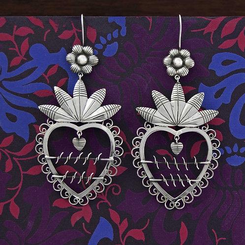 Barbed Heart Earrings