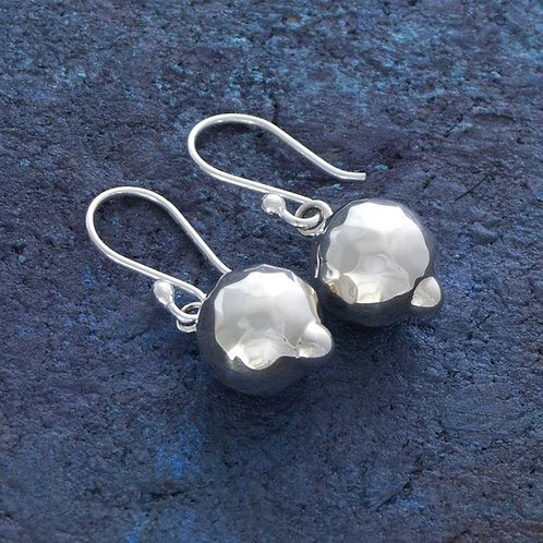 Medium Textured Ball Earrings