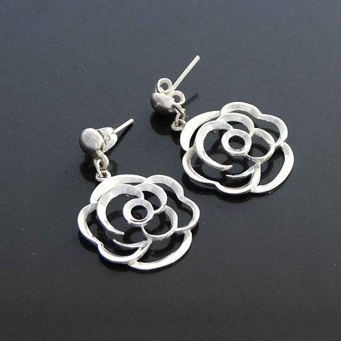 Sculpted Flower Earrings
