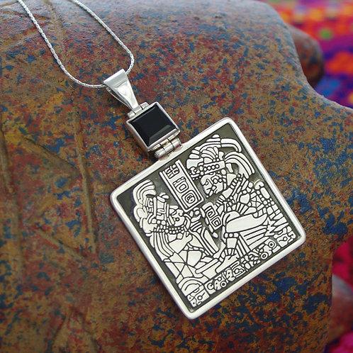 Prehistoric Pendant Necklace-Onyx