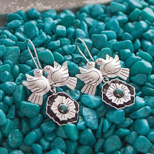 Love Bird Hook Earrings