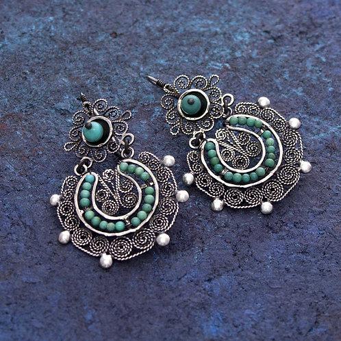 Filigre Turquoise Earrings
