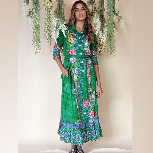 Valeria Emerald Maxi Dress