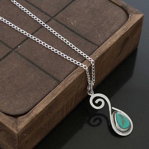 Turquoise Swirl Necklace