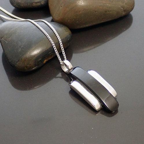 Onyx Deco Pendant Necklace