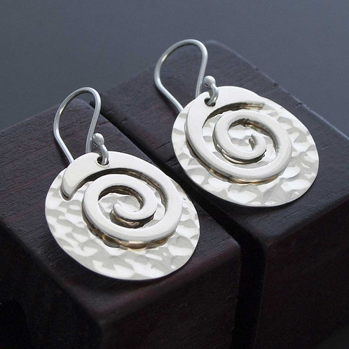 Disk & Spiral Earrings