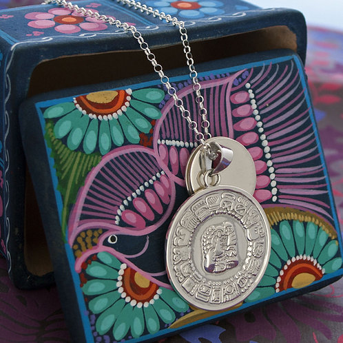 Large Mayan Disk Necklace