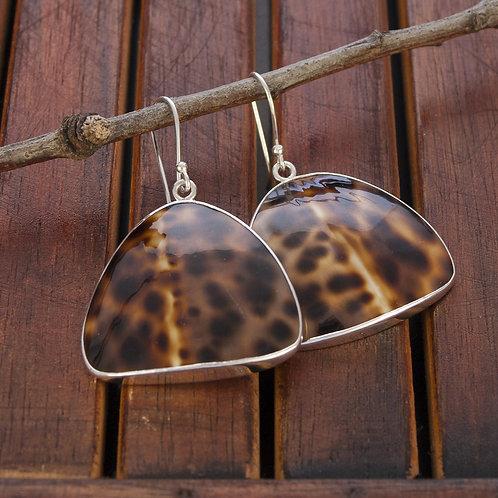 Silver & Cowrie Shell Earrings