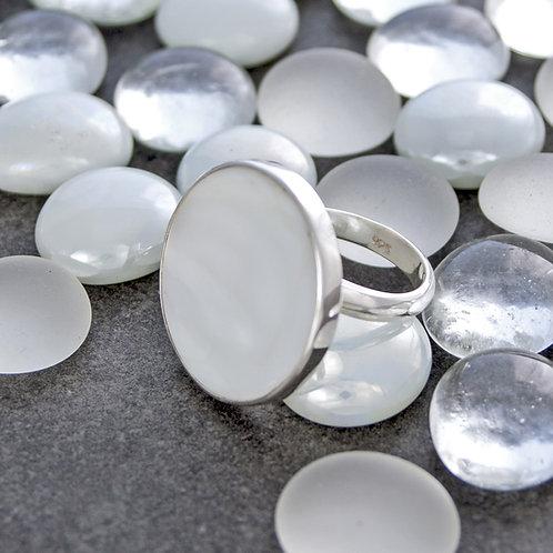 White Onyx Ring