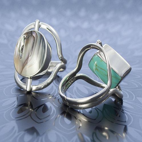 Reversible Stone Rings