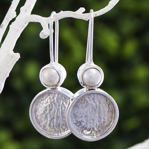 Textured Disk  Pearl Drops