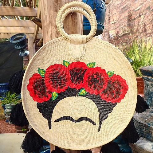 Round Frida Beach Bag