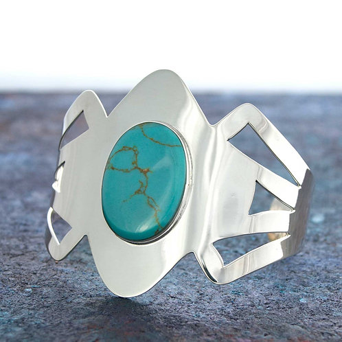 Carved Turquoise Cuff