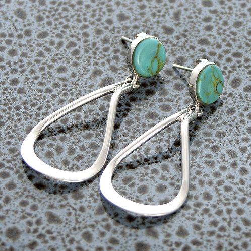 Turquoise Droplet Earrings