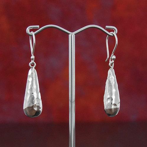 Textured Droplet Earrings