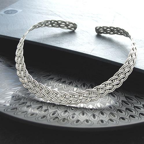 Woven Silver Collar