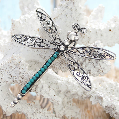 Dragonfly Pendant Broach