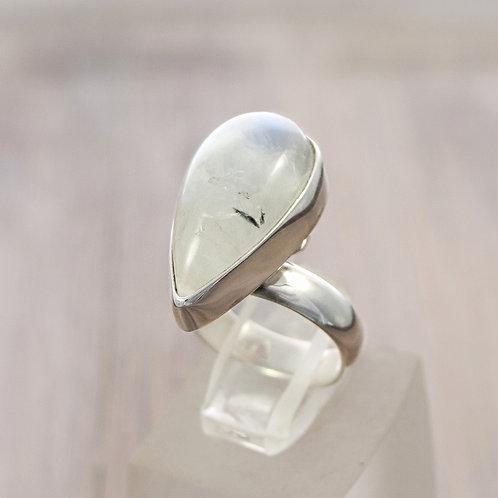 Adjustable Moonstone Treardrop Ring
