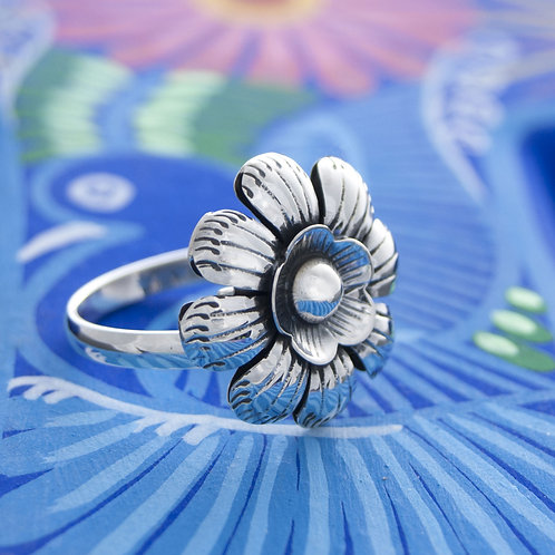 Etched Flower Ring