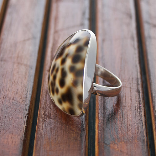 Silver & Cowrie Shell Ring