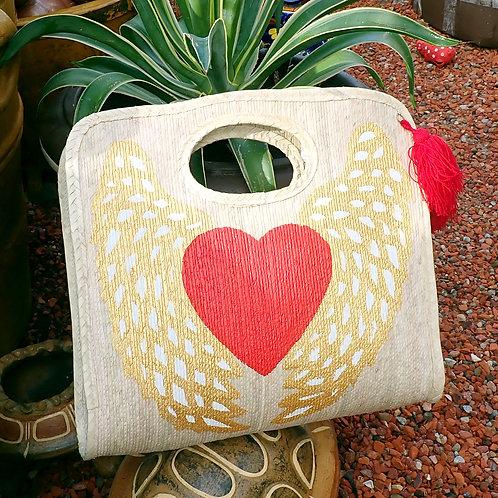 Vintage Winged Heart Bag