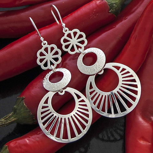 Mexican Tri Drop Earrings