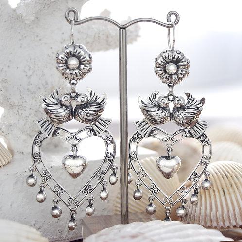Ornate Lovebird Earrings