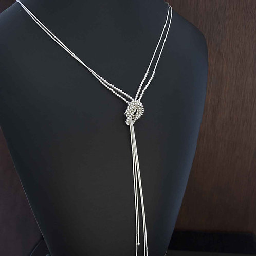 Liquid Silver Ball Necklace