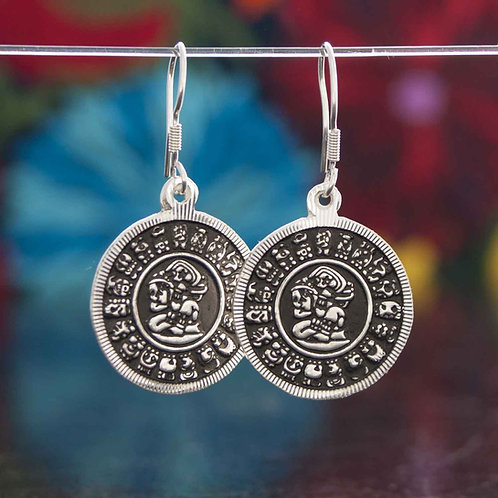 Mayan Character Earrings