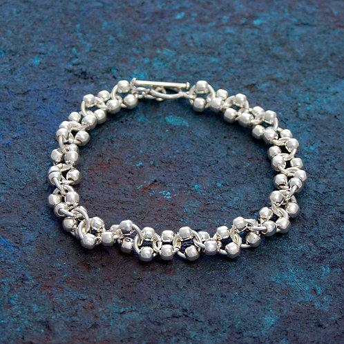 Link & Silver Ball Bracelet