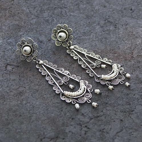 Pearl & Filigre Drop Earrings