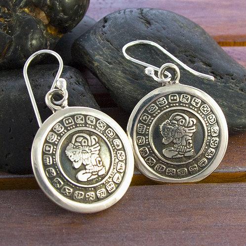2cm Mayan Disk Earrings