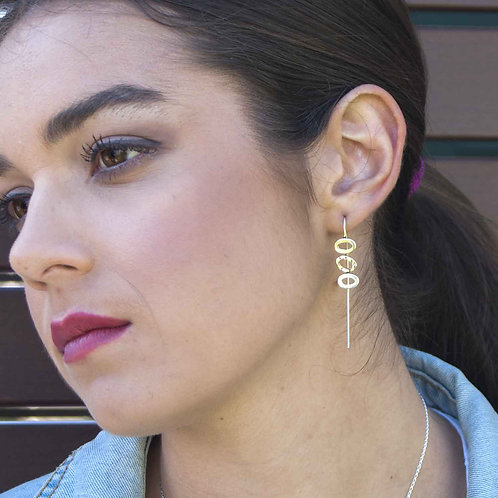 Triple Textured O Earrings
