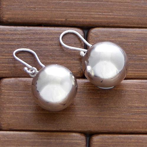 X-Large Silver Ball Earrings