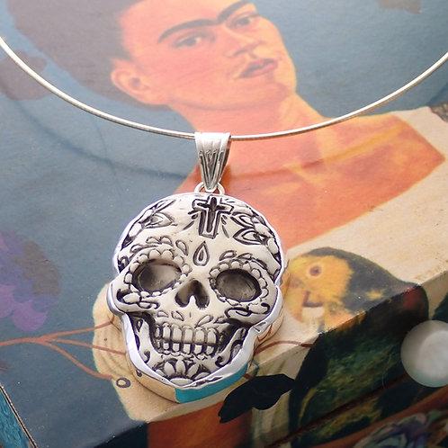 Sugar Skull Pendant with chain