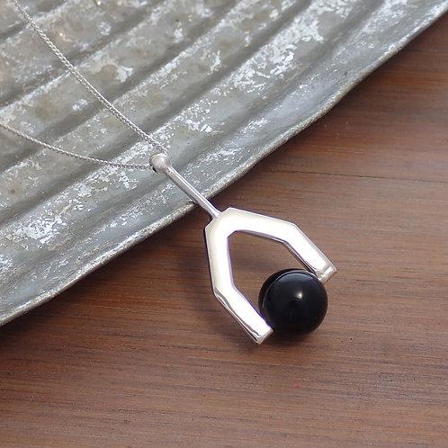 Onyx Drop Pendant Necklace